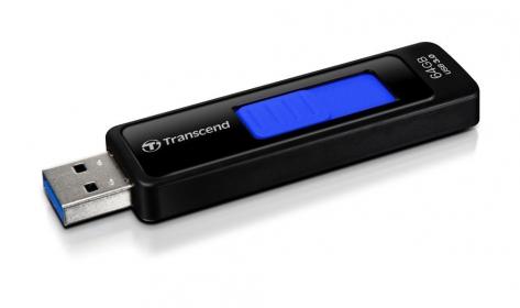 Transcend JetFlash 760 64GB USB3.0  Fekete-Kék Pendrive (TS64GJF760)