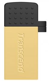 Transcend JetFlash 380 8GB OTG USB2.0 Arany Pendrive (TS8GJF380G)