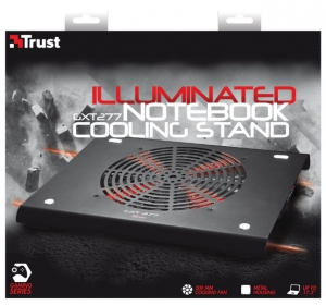 Trust GXT 277 Notebook Cooling Stand Gamer Hűtőpad,Fekete (19142)