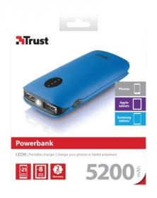 Trust Leon 5200 Portable Charger Kék PowerBank (20382)