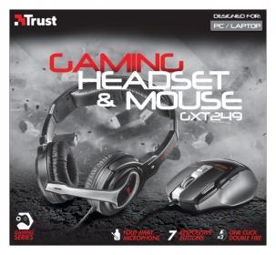 Trust GXT 249 Gamer Headset+Egér Fekete (20499)