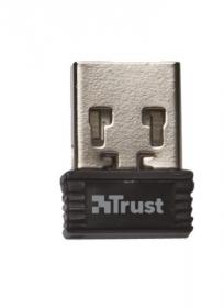 Trust Veza wireless touchpados multimédiás fekete angol billentyűzet (20960)