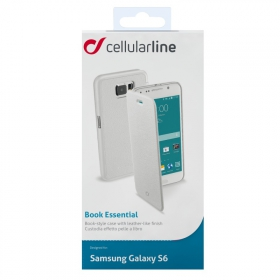 Cellularline Book G920 Samsung Galaxy S6 fehér telefontok (BOOKESSENGALS6W)