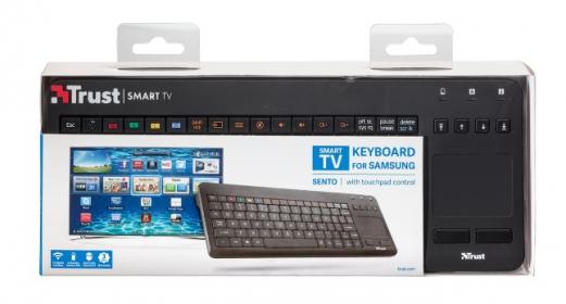 Trust Sento Smart TV  for Samsung fekete touch pados angol billentyűzet (20059)