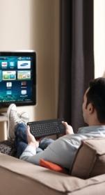 Trust Sento Smart TV  for Samsung fekete touch pados cseh-szlovák billentyűzet (20291)