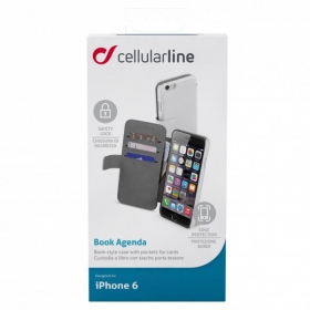 Cellularline Bookagenda  iPhone 6 fehér telefontok (BOOKAGENDAIPH647W)