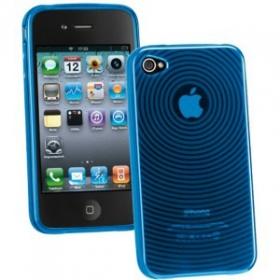 Cellularline Circle iPhone 4 kék mintás telefontok (CIRIPHONE4B)