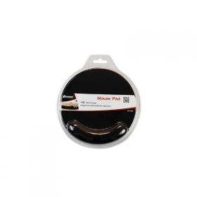VAKOSS  PD-423BK zselés csuklótámaszos fekete egérpad