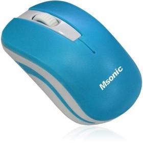 MSONIC MX735B wireless optikai kék-fehér egér