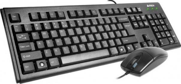 A4Tech KM-72620D USB angol billentyűzet+egér (A4TKLA43774)