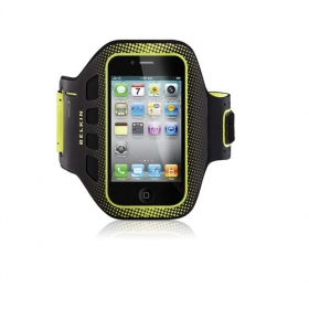 Belkin F8Z894cwC00 iPhone4/4S sárga-fekete sport karpánt telefontok