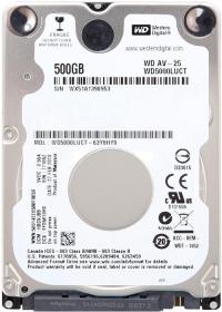 Western Digital AV-25 2,5'' 500GB 16MB SATA2 Merevlemez (WD5000LUCT)