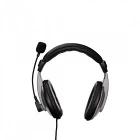 HAMA AH-100 mikrofonos fekete-ezüst fejhallgató (53994)