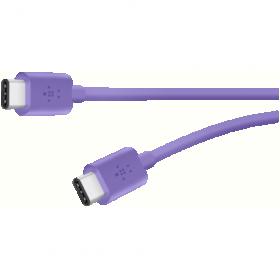 Belkin Mixit USB C 2.0 1,8m lila összekötő kábel (F2CU043BT06-PUR)