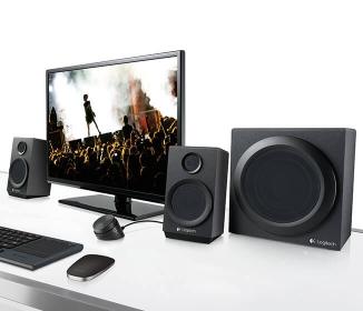 LOGITECH Z333 Audio System Fekete (980-001202)