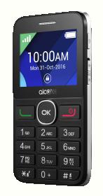 ALCATEL 2008G Fekekte Ezüst Mobiltelefon (2008G-3BALHU1)
