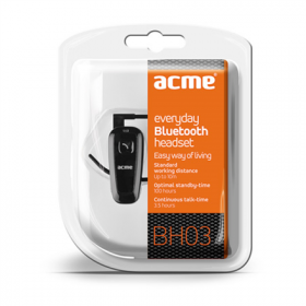 ACME BH03 fekete bluetooth headset