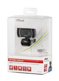 Trust Trino USB mikrofonos fekete webkamera (18679)