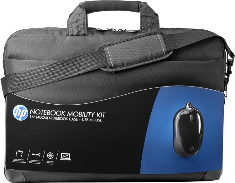 HP Mobility Kit 16   fekete notebook táska+egér (H6L24AA) f341c89d1f
