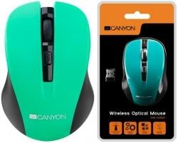 CANYON CMSW1O wireless optikai zöld-fekete egér (CNE-CMSW1GR)