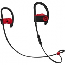 Beats by Dr. Dre Powerbeats3 Wireless Bluetooth Stereo Earset - Earbud, Behind-the-neck - In-ear - Black/Red