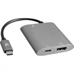 V7 USB-C TO HDMI HUB SZÜRKE (V7UCHDMIHB-ALUGR-1EC)