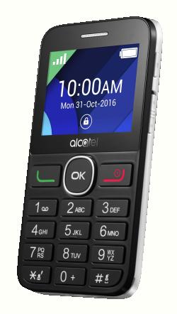 ALCATEL 2008G Fekekte Fehér Mobiltelefon (2008G-3AALHU1)
