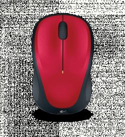 Logitech M235 wireless optikai piros-fekete egér (910-002497)