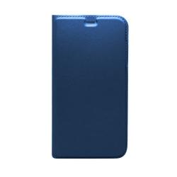 Huawei P20 Lite oldalra nyíló tok Sötétkék