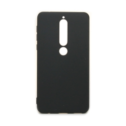 Nokia 6.1 vékony szilikon hátlap  Fekete (TPU-NOK-6.1-BK)
