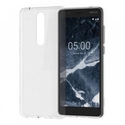 Nokia 5.1+ vékony szilikon hátlap Átlátszó (TPU-NOK-5.1P-TP)