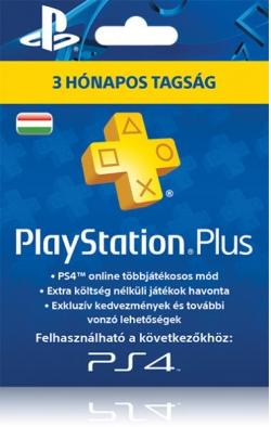 SONY 90napos PlayStation Plus tagság előfizetés Kártyás kivitel (PSN)