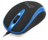 Media Tech MT1091 PLANO USB optikai fekete-kék egér (MT1091B)