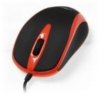 Media Tech MT1091 PLANO USB optikai fekete-piros egér (MT1091R)