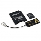 Kingston 16 GB Multi Kit /Class 4 microSD memóriakártya + SD adapter + USB olvasó/ (MBLY4G2/16GB)