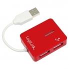 Logilink ''Smile'' USB HUB Piros (UA0140)
