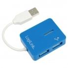 Logilink ''Smile'' USB HUB Kék (UA0136 )