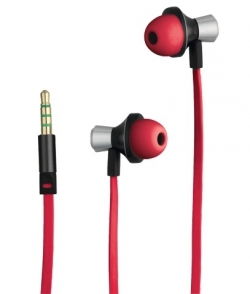 Trust Onyc In-Ear mikrofonos vörös headset (19334)