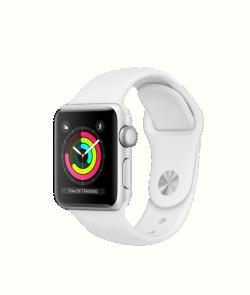 Apple Watch S3 42mm ezüst alumíniumtok, fehér sportszíjjal (MTF22MP/A)
