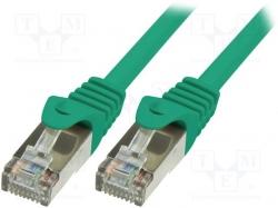 LogiLink CAT5e F/UTP Patch Kábel, AWG26 zöld, 0,25m (CP1015S)