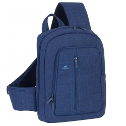 RivaCase 7529 Canvas Sling Backpack Kék 13,3'' Notebook hátizsák (4260403570913)
