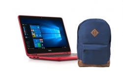 Dell Inspiron 3179 11'' 2in1 Piros Notebook ajándék hátizsákkal (INSP3179-4)