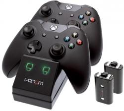 Venom  Xbox One fekete töltőállomás + 2 db akkumulátor (VS2851)