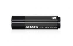 ADATA S102 PRO Pendrive 64GB Titanium Szürke (AS102P-64G-RGY)