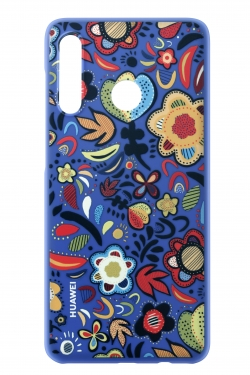 Huawei Colorful-TPU Case  P30 Lite  FLOWER BLUE  (51993074)