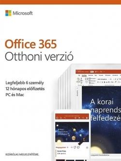 Microsoft Office 365 Otthoni verzió HUN 6 Felhasználó 1 év dobozos (6GQ-00912)