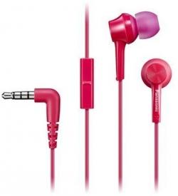 Panasonic rózsaszín mikrofonos fülhallgató headset (RP-TCM115E-P)