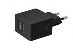 Trust Urban fekete dupla USB-s töltőfej okostelefonokhoz (20147)