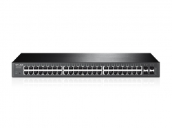 TP-LINK T1600G-52TS JetStream 48 portos gigabites switch 4 db SFP lehetőséggel