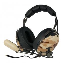 Arctic P533 barna mintás mikrofonos gamer fejhallgató (ASHPH00011A)